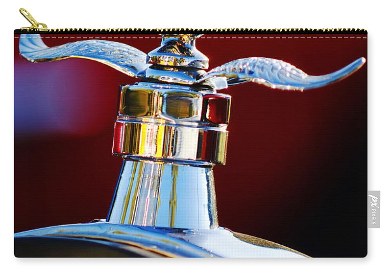 Hood Ornament Carry-all Pouch featuring the photograph Ford Boyce Motometer by Jill Reger