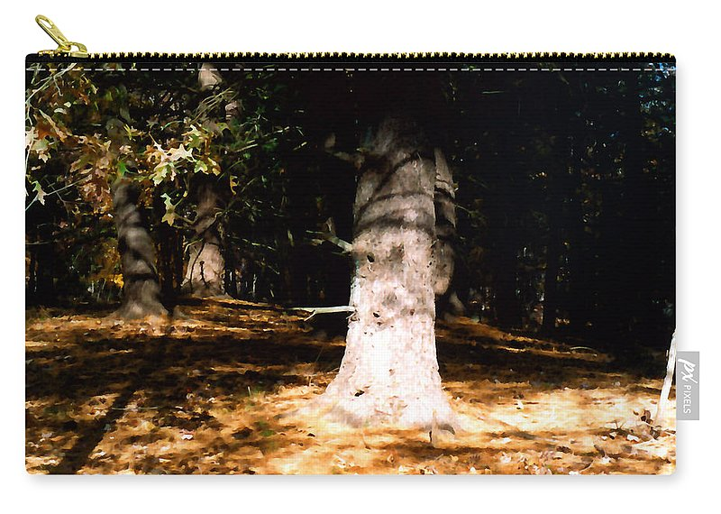 Forest Carry-all Pouch featuring the painting Forest Entrance by Paul Sachtleben