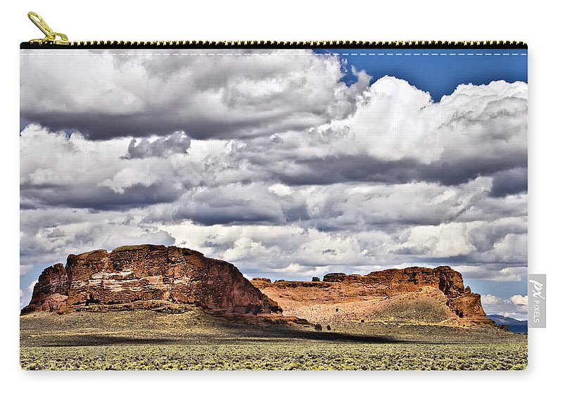 Fort Rock Carry-all Pouch featuring the photograph Fort Rock by Albert Seger