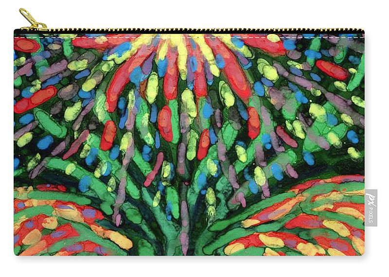Colour Carry-all Pouch featuring the painting Fountain by Wojtek Kowalski