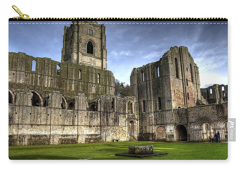 Castle Carry-all Pouch featuring the photograph Fountains Abbey 6 by Svetlana Sewell