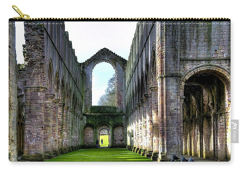Castle Carry-all Pouch featuring the photograph Fountains Abbey 7 by Svetlana Sewell