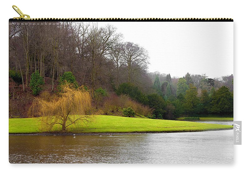 Castle Carry-all Pouch featuring the photograph Fountains Abbey Lake 1 by Svetlana Sewell