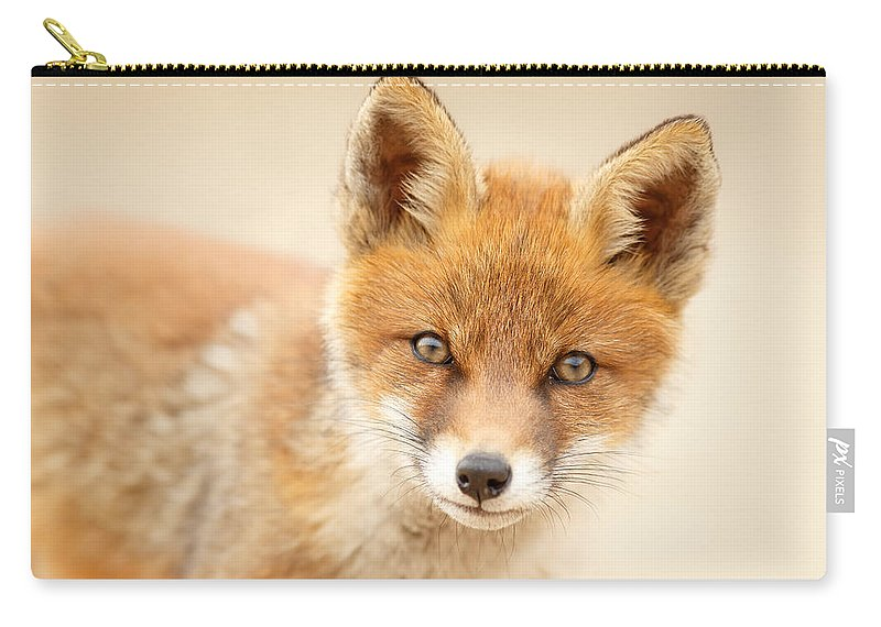 Fox Carry-all Pouch featuring the photograph Foxy Face by Roeselien Raimond