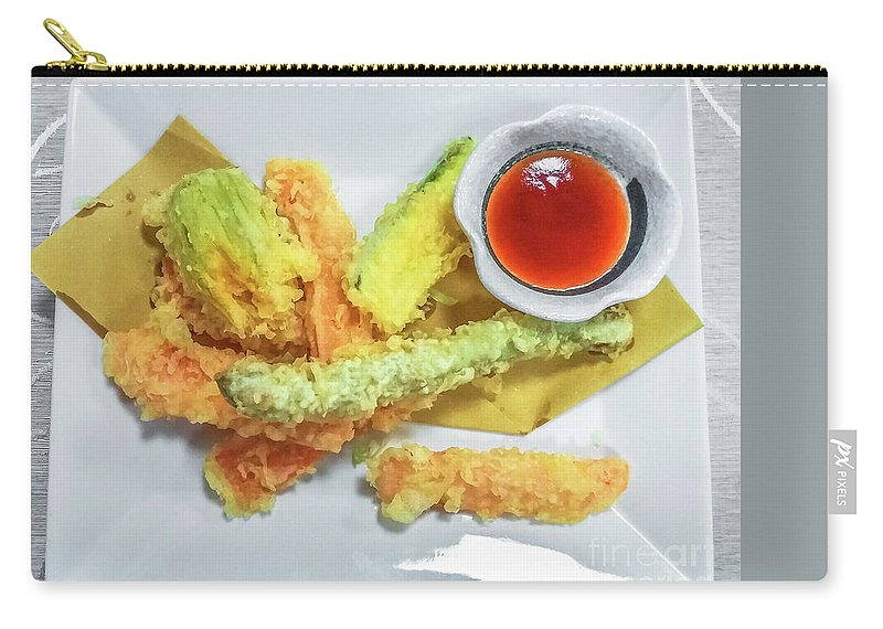 Shrimp Carry-all Pouch featuring the photograph Fried Shrimps Tempura by Benny Marty