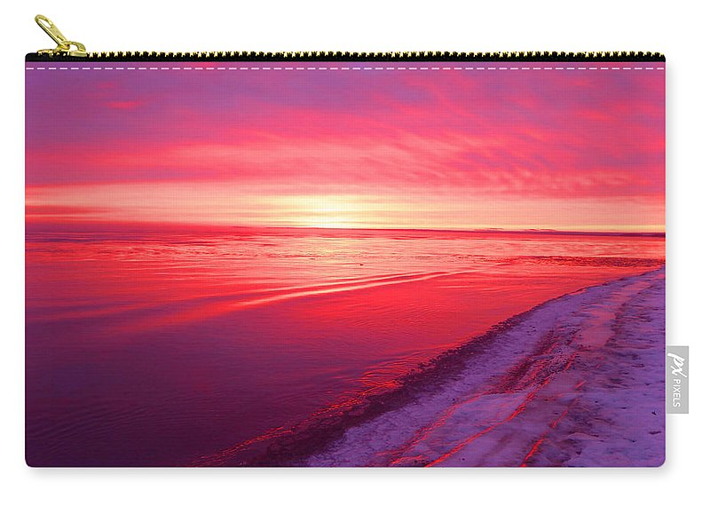 Sunrise Carry-all Pouch featuring the photograph Frozen by Alison Gimpel