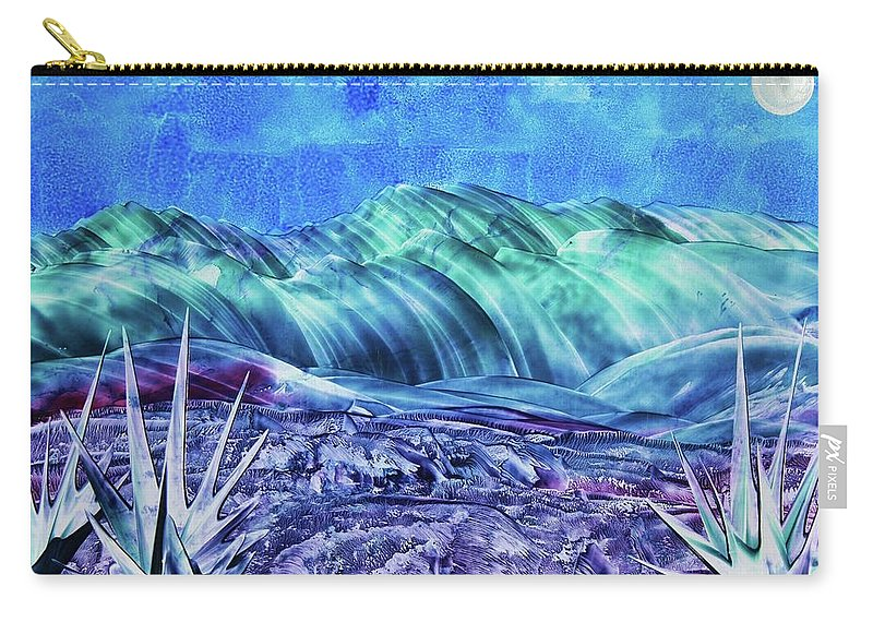 Encaustic Carry-all Pouch featuring the painting Gallup by Melinda Etzold