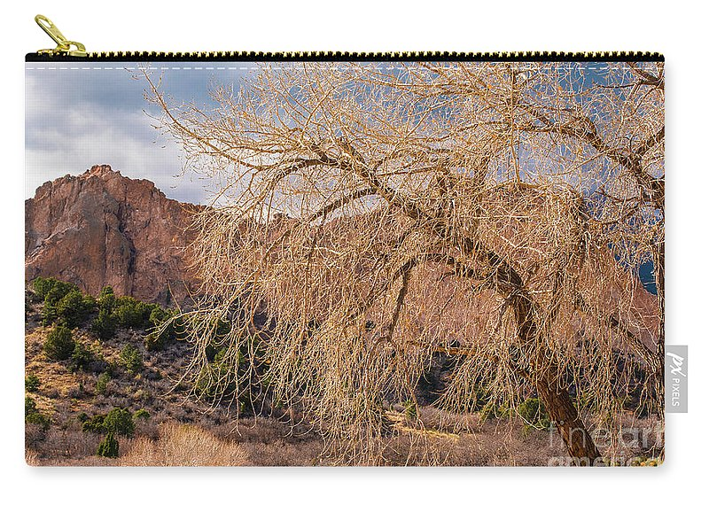 Colorado Springs Carry-all Pouch featuring the photograph Garden Of The Gods Entrance by Jennifer Mitchell