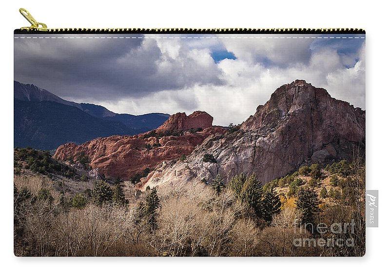 Colorado Springs Carry-all Pouch featuring the photograph Garden Of The Gods by Jennifer Mitchell