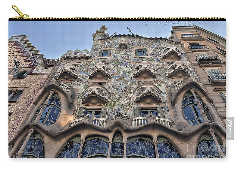 Abbey Carry-all Pouch featuring the photograph Gaudi by Svetlana Sewell