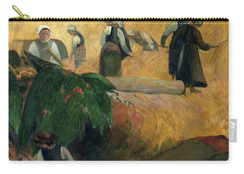 1889 Carry-all Pouch featuring the photograph Gauguin: Breton Women by Granger