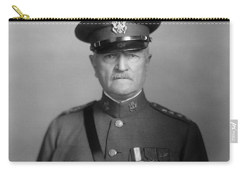 General Pershing Carry-all Pouch featuring the photograph General John Pershing by War Is Hell Store