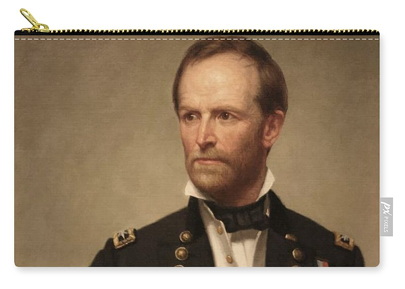 General Sherman Carry-all Pouch featuring the painting General William Tecumseh Sherman 2 by War Is Hell Store