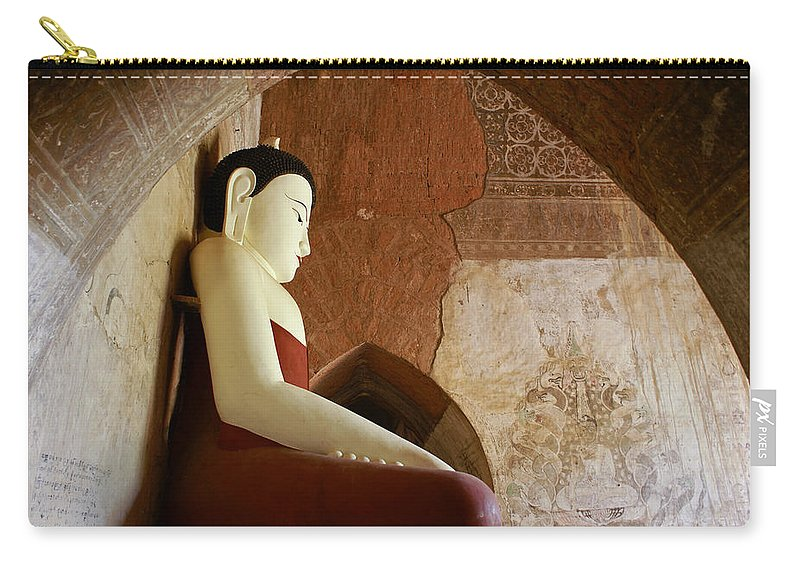 Buddha Carry-all Pouch featuring the photograph Geometric Buddha by Michele Burgess