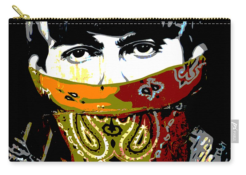 Banksy Carry-all Pouch featuring the photograph George Harrison wearing a face mask by RicardMN Photography
