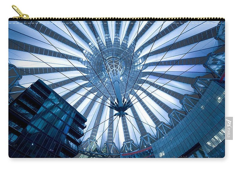 Architecture Carry-all Pouch featuring the photograph Glass Sky by Pierre Logwin