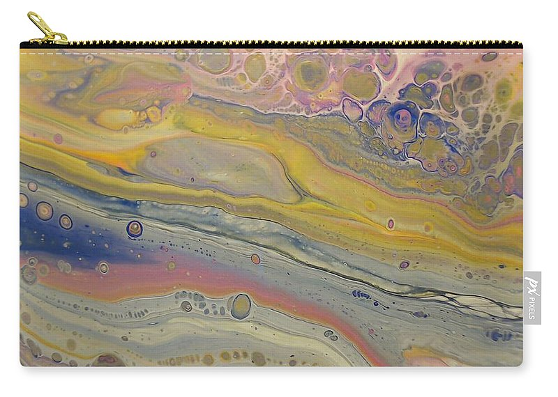 Abstract Carry-all Pouch featuring the painting Glide Across The Galaxy by C Maria Wall