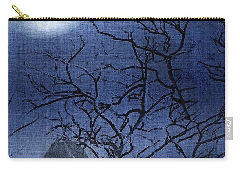 Clouds Carry-all Pouch featuring the painting Go Ask Alice by RC DeWinter