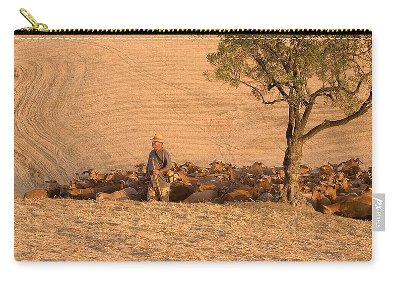 Goat Carry-all Pouch featuring the photograph Goatherd by Mal Bray
