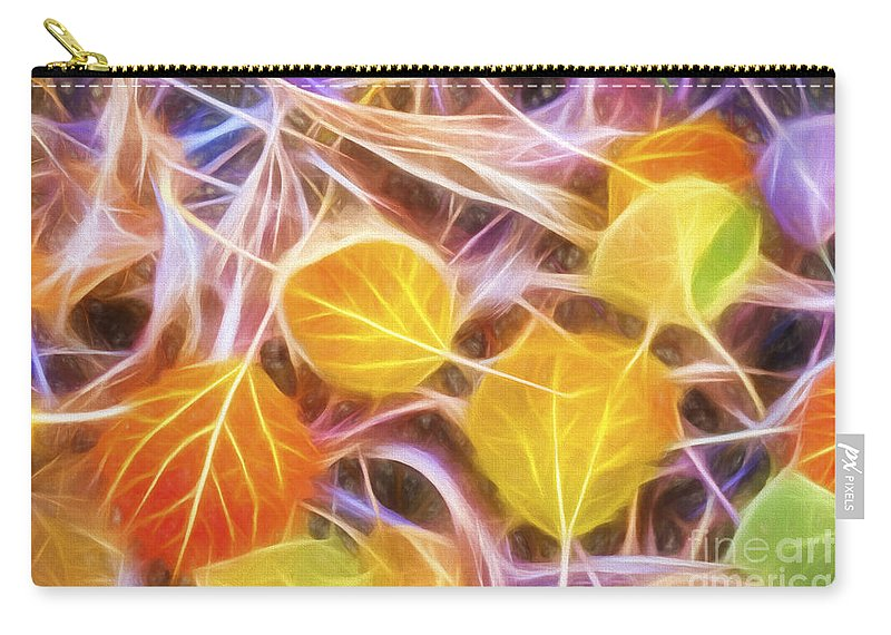Abstract Carry-all Pouch featuring the painting Golden Autumn by Veikko Suikkanen