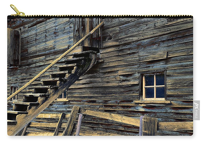 Architecture Carry-all Pouch featuring the photograph Golden Barn by Wayne Sherriff