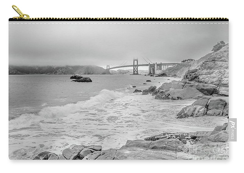 Golden Gate Bridge Carry-all Pouch featuring the photograph Golden Gate Bridge Vista Point by Benny Marty