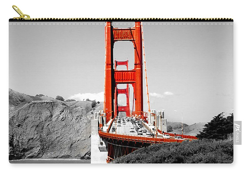 City Carry-all Pouch featuring the photograph Golden Gate by Greg Fortier