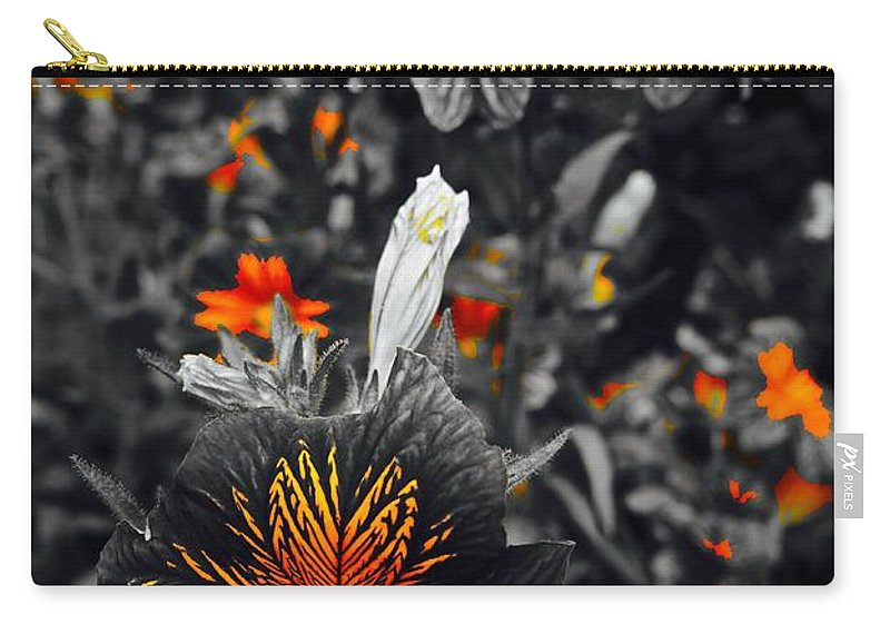 Monochrome Carry-all Pouch featuring the photograph Golden Hearts by Tim G Ross