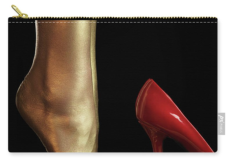 Legs Carry-all Pouch featuring the photograph Golden Legs by Maxim Images Prints