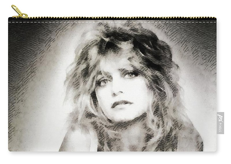 Goldie Carry-all Pouch featuring the painting Goldie Hawn, Actress by John Springfield