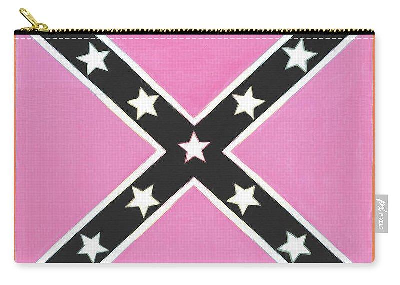 Flag Carry-all Pouch featuring the painting Good And Plenty Kiss by Candace Lovely