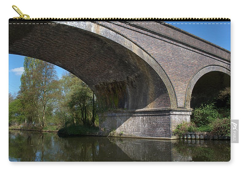 Bridge Carry-all Pouch featuring the photograph Grand Union Canal Bridge 181 by Chris Day
