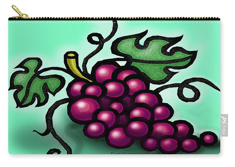 Grape Carry-all Pouch featuring the greeting card Grapes by Kevin Middleton