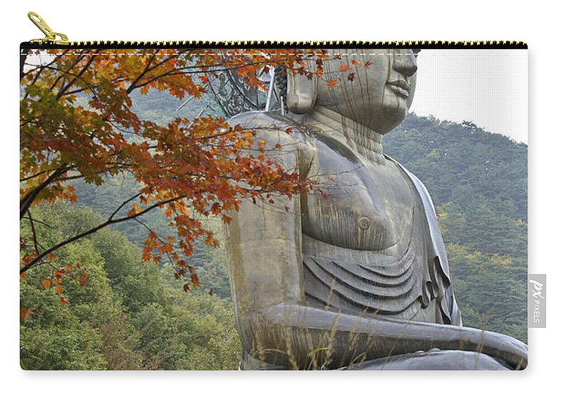 Buddha Carry-all Pouch featuring the photograph Great Buddha In Autumn by Michele Burgess