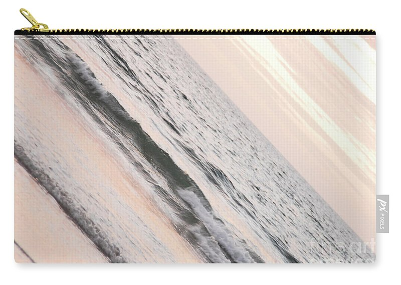 St Ives Beach By Jenny Potter Carry-all Pouch featuring the photograph Water On The Beach by Jenny Potter