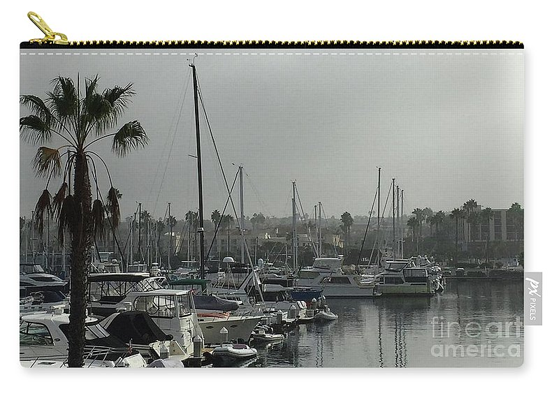 Redondo Carry-all Pouch featuring the photograph Grey Harbor by Victoria C Clarke