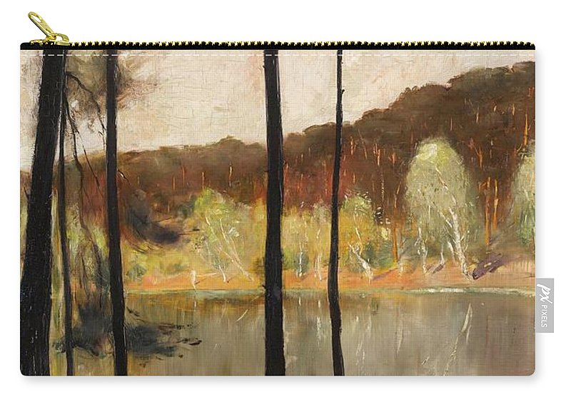 Lesser Ury 1861 - 1931 Grunewald Carry-all Pouch featuring the painting Grunewald by MotionAge Designs
