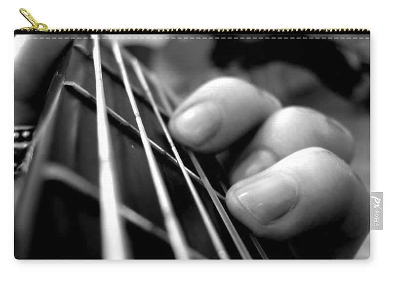 Guitar Carry-all Pouch featuring the digital art Guitar by Maye Loeser