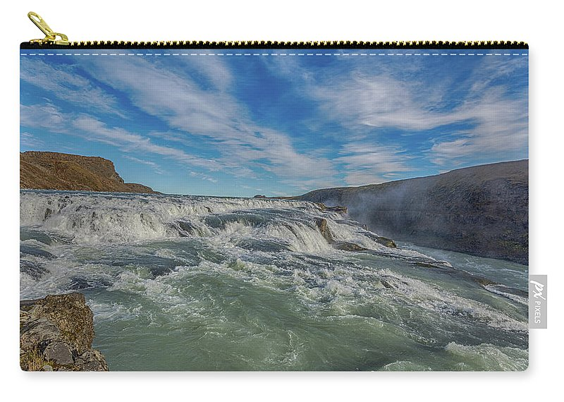 Autumn Carry-all Pouch featuring the photograph Gulfoss. by Angela Aird
