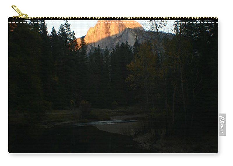 Half Dome Carry-all Pouch featuring the photograph Half Dome Sunset by Travis Day