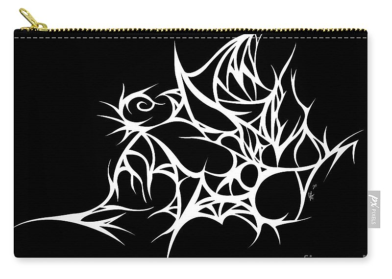 Carry-all Pouch featuring the digital art Hallowweb by Jamie Lynn