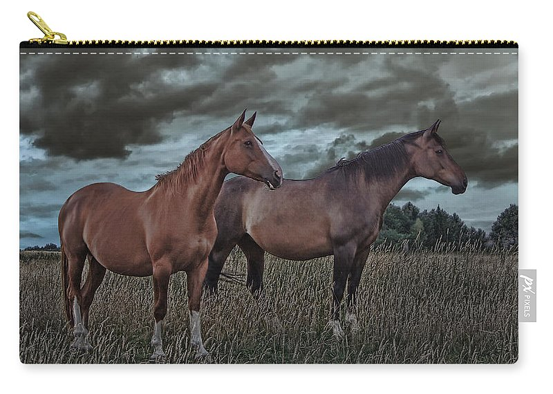 Animal Carry-all Pouch featuring the photograph Hanoverians by Joachim G Pinkawa