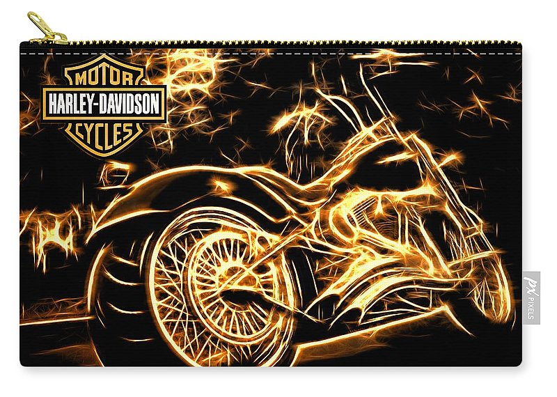 Harley-davidson Carry-all Pouch featuring the photograph Harley-davidson by Aaron Berg