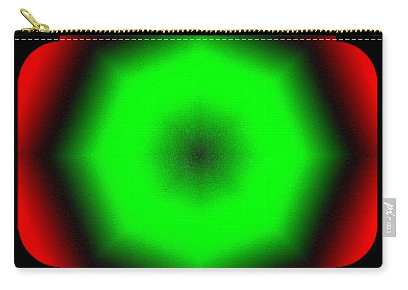 Abstract Carry-all Pouch featuring the digital art Harmony 26 by Will Borden