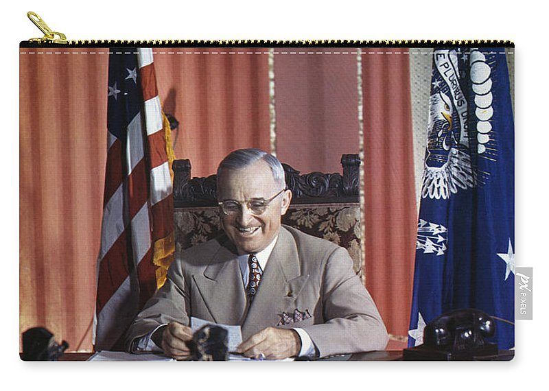 1945 Carry-all Pouch featuring the photograph Harry S. Truman by Granger