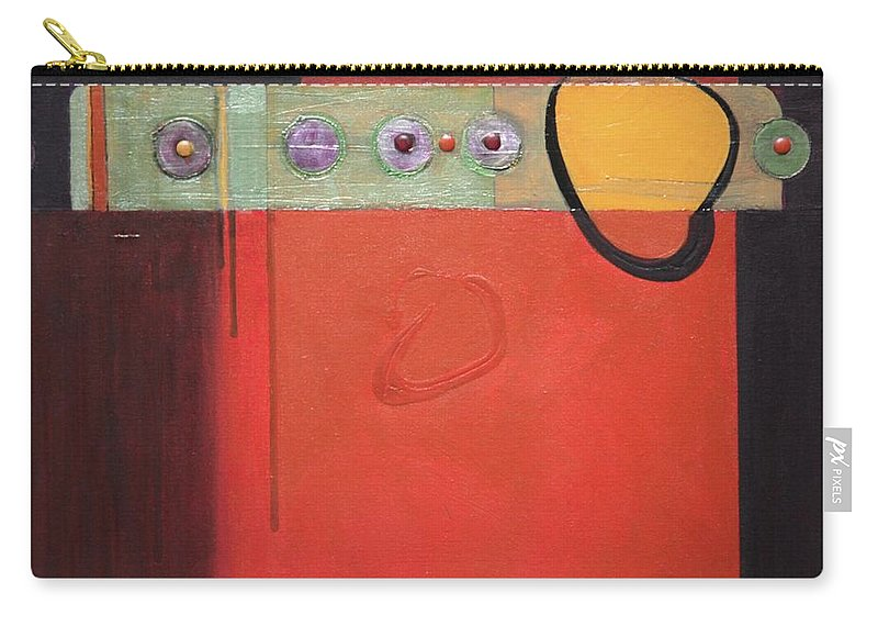 Abstract Carry-all Pouch featuring the painting Harvest Duo 1 by Marlene Burns
