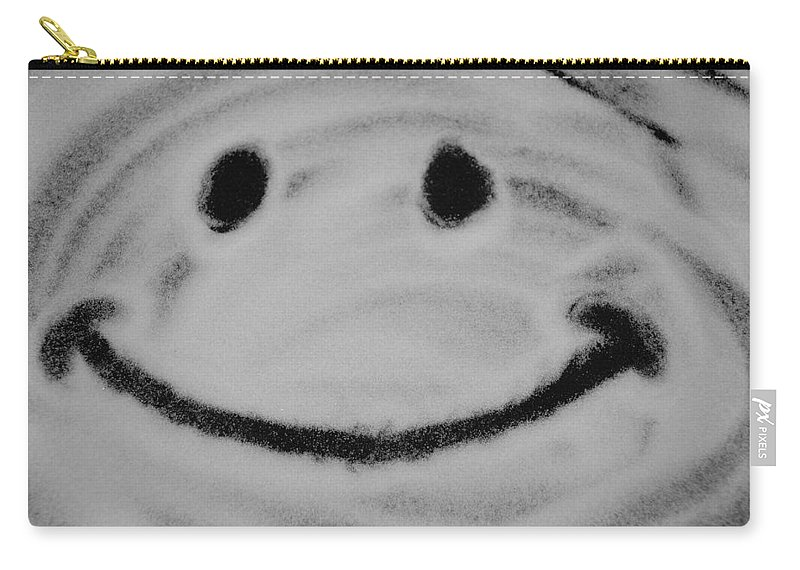 Black And White Carry-all Pouch featuring the photograph Have A Nice Day by Rob Hans