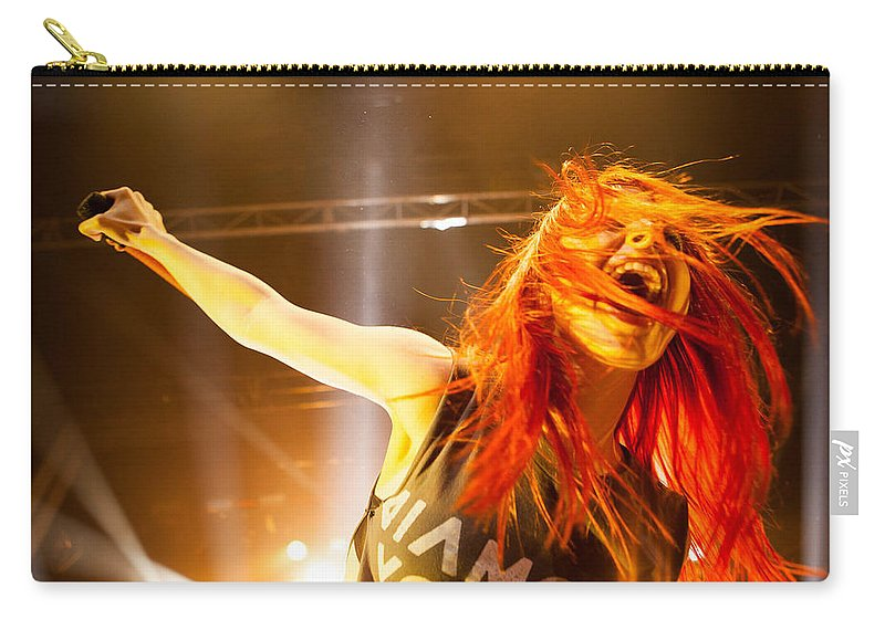 Hayley Williams Carry-all Pouch featuring the digital art Hayley Williams by Dorothy Binder