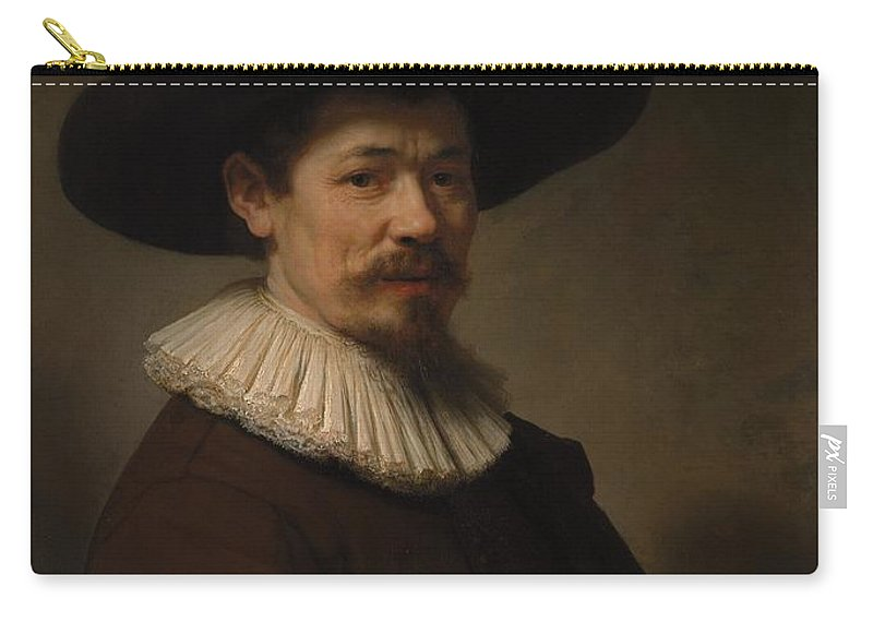 Rembrandt Herman Doomer Born About 1595 Died 1650 Carry-all Pouch featuring the painting Herman Doomer Born About 1595 Died 1650 by Rembrandt
