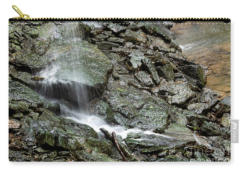 Waterfall Carry-all Pouch featuring the photograph Hidden Stream by Wesley Farnsworth